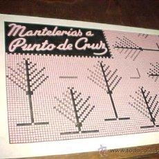 Coleccionismo: MANTELERIAS A PUNTO DE CRUZ. DISTRIBUCIONES REUNIDAS. EDICIONES ALFARO. VALENCIA 1963.. Lote 27723389