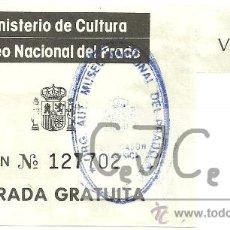 Coleccionismo: ENTRADA MUSEO NACIONAL DEL PRADO, MADRID. Lote 28722788