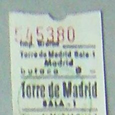 Coleccionismo: MADRID-ENTRADA CINE TORRE DE MADRID-SALA 1 AÑO 1983. Lote 28369447
