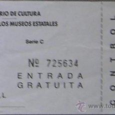 Coleccionismo: ENTRADA MUSEO POSTAL DE MADRID. Lote 28529514
