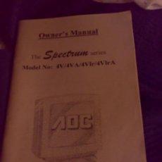 Coleccionismo: MANUAL DE USUARIO DE MONITORES AOR. THE SPECTRUM SERIES. EN 4 IDIOMAS.. Lote 28511764