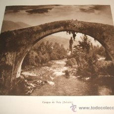 Coleccionismo: CANGAS DE ONIS ASTURIAS PUENTE HUECOGRABADO 1928. Lote 28653259