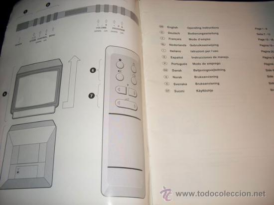 Coleccionismo: MANUAL DE TV SIN MARCA - 11 IDIOMAS - Foto 2 - 28691224