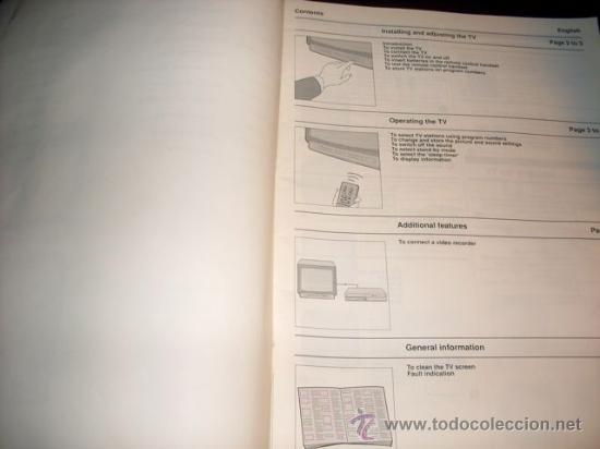 Coleccionismo: MANUAL DE TV SIN MARCA - 11 IDIOMAS - Foto 3 - 28691224