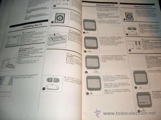Coleccionismo: MANUAL DE TV SIN MARCA - 11 IDIOMAS - Foto 4 - 28691224