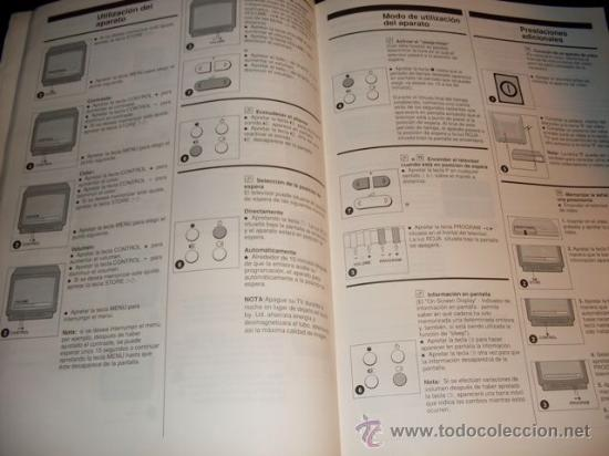 Coleccionismo: MANUAL DE TV SIN MARCA - 11 IDIOMAS - Foto 5 - 28691224