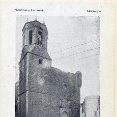 Coleccionismo: ALCANAR 1922 TORTOSA IGLESIA SAN MIGUEL HOJA LIBRO. Lote 28830103