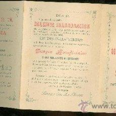 Coleccionismo: AYUNT. SEVILLA. PROGR. FETEJOS. VISITA DE SS.MM. CONMEMORACIÓN DESC. AMÉRICA. 1908. Lote 28840707