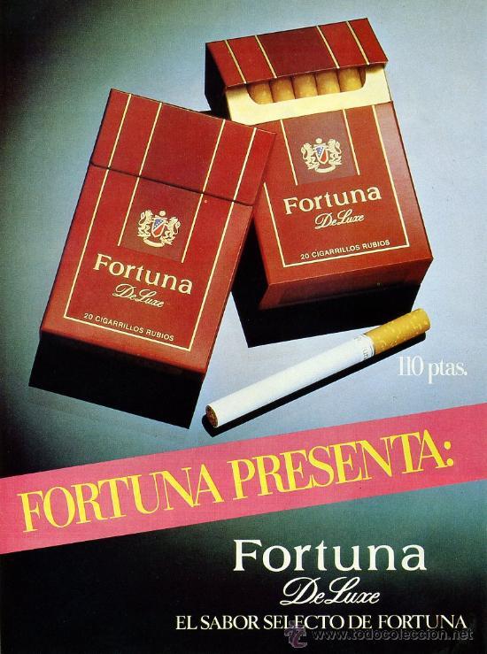 PUBLICIDAD PRENSA 1985 - FORTUNA - CIGARRILLOS TABACO (Coleccionismo - Objetos para Fumar - Otros)