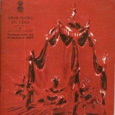 Coleccionismo: PROGRAMA DEL GRAN TEATRO DEL LICEO AÑO 1957 - THEATRE BALLET - . Lote 28896073
