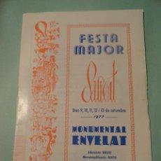 Coleccionismo: PROGRAMA FIESTAS MAYORES (FESTA MAJOR) SALLENT 1977. Lote 29099192