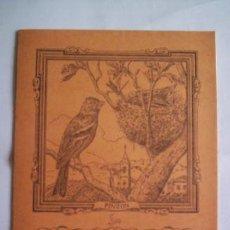 Coleccionismo: CUADERNO SAM AÑOS 70. SERIE ANIMALES: PINZÓN. EN . SIN USO.. Lote 39841676