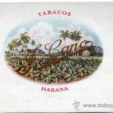 Coleccionismo: HABILITACIÓN, BOFETÓN, TABACOS CANO, LA HABANA. Lote 29446719