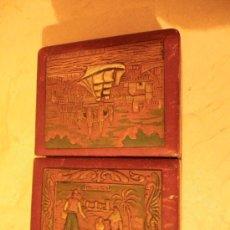 Coleccionismo: CAJA TABAQUERA DE CUERO REPUJADO. RECUERDO DE MALLORCA. 19 CM POR 12CM POR 5 CM. Lote 29763367