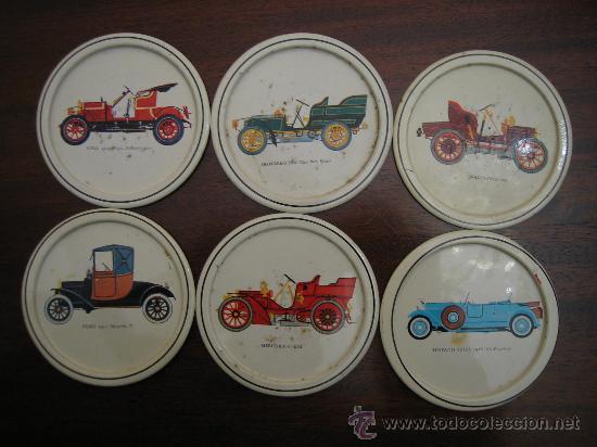 Coleccionismo: Posa vosos de metal con coches antiguos - Foto 3 - 29941711