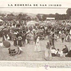 Coleccionismo: RECORTE PRENSA.AÑO 1908.LA ROMERIA DE SAN ISIDRO.FOTOS ANTIGUAS DE MADRID.. Lote 30030885