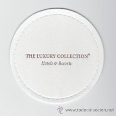 Coleccionismo: POSAVASOS THE LUXURY COLLECTION HOTELS & RESORTS - HOTEL - CADENA HOTELERA. Lote 30044545