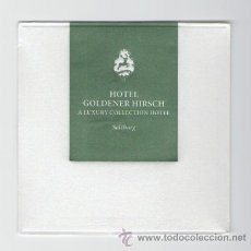Coleccionismo: POSAVASOS HOTEL GOLDENER HIRSCH SALZBURGO A LUXURY COLLECTION HOTELS & RESORTS. Lote 30044612