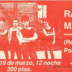 Coleccionismo: RADIO MACAU ENTRADA SALA M-TRO DE ZARAGOZA. UN JUEVES 19 DE MARZO DE FINALES DE LOS 80'S. Lote 30307805