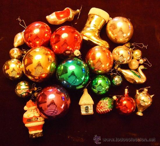lote de 24 piezas de adornos navide os a os 70 comprar
