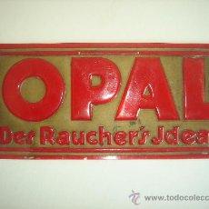 Coleccionismo: OPAL - ANTIGUA PLACA PUBLICITARIA - PUBLICIDAD TABACO - AÑOS 60. Lote 30369281