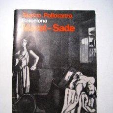 Coleccionismo: TEATRO POLIORAMA: MARAT-SADE - PROGRAMA TEMPORADA 1968-1969. Lote 30506758