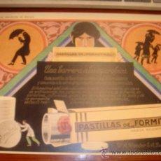 Coleccionismo: PASTILLAS DE FORMITROL MEDIDAS 30 X 40 CM REPRODUCCIO. Lote 30546854