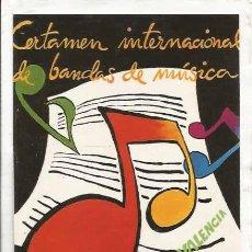 Coleccionismo: ** PG82 - CERTAMEN INTERNACIONAL DE BANDAS DE MUSICA - CIUDAD DE VALENCIA 1997. Lote 30643805