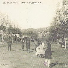Coleccionismo: FACSIMIL. POSTAL MALAGA. PASEO DE HEREDIA. LA OPINION. . Lote 30667865