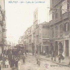 Coleccionismo: FACSIMIL. POSTAL MALAGA. CALLE DE CARRETERIAS . LA OPINION. . Lote 30667906