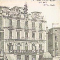 Coleccionismo: FACSIMIL. POSTAL MALAGA. HOTEL COLON . LA OPINION. . Lote 30667925
