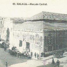 Coleccionismo: FACSIMIL. POSTAL MALAGA. MERCADO CENTRAL . LA OPINION. . Lote 30667984
