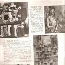 Coleccionismo: HOJAS REPORTAJE.AÑOS 40.PICASSO.ARTE.PEDRO CATALA.PINTURA.. Lote 30740579