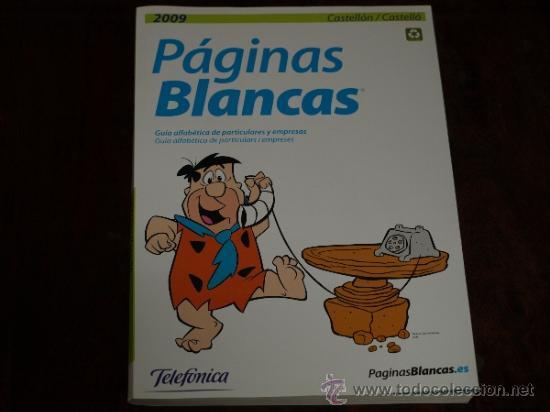 GUIA TELEFONICA. PAGINAS BLANCAS CASTELLON 2009. NUEVA. (Coleccionismo - Laminas, Programas y Otros Documentos)