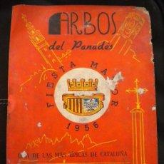 Coleccionismo: PROGRAMA DE FIESTA MAYOR ARBOS DEL PANADES, 1956.. Lote 31096454