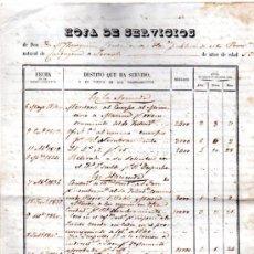 Coleccionismo: HOJA DE SERVICIOS DE JOSE MARÍA CHEREGUINI, CONTANDOR DE HACIENDA, CÁDIZ, DE 1810 A 1851. Lote 31140836