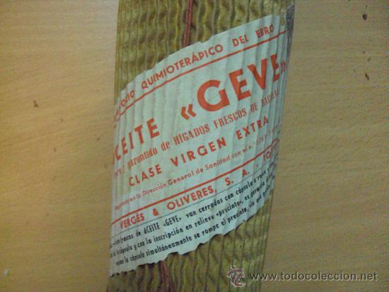 Coleccionismo: Botella de Aceite de Higado de Bacalao Llena y Sin Abrir - Foto 2 - 31302439