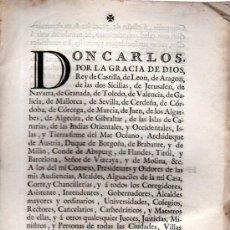 Coleccionismo: CÉDULA DE S.M. CARLOS III MANDANDO SUPRIMIR CÁTEDRAS, SAN IDELFONSO, 1778, 3PÁGS, PAPEL PERGAMINO. Lote 31343676