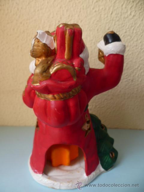 Coleccionismo: PAPA NOEL de yeso con una vela en el interior (vér fotos) - Foto 2 - 31343365
