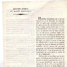 Coleccionismo: DIRECCIÓN GENERAL DE BIENES NACIONALES, NAPOLEÓN, GUERRA INDEPENDENCIA, MADRID 1810, DESAMORTIZACIÓN. Lote 31409939