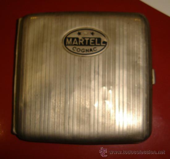 PITILLERA DE PLATA. COGNAC MARTELL. 95GRAMOS. 10CM. (Coleccionismo - Objetos para Fumar - Otros)
