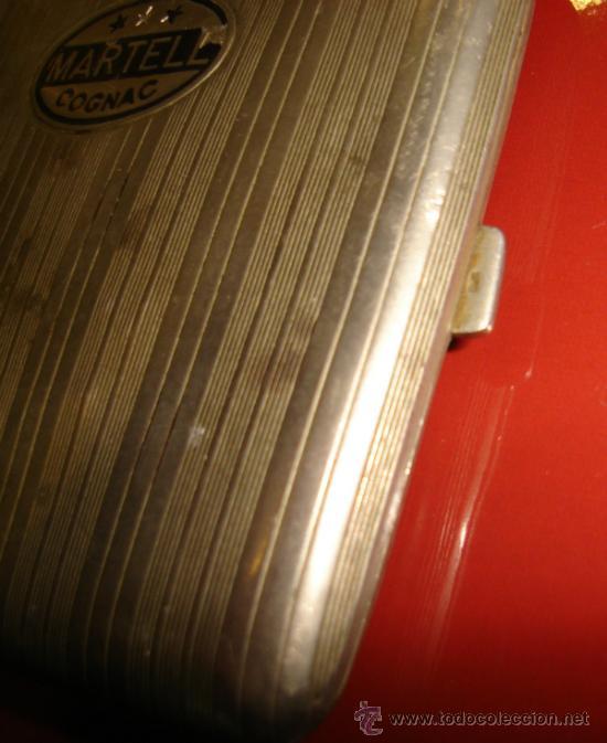 Coleccionismo: PITILLERA DE PLATA. COGNAC MARTELL. 95GRAMOS. 10CM. - Foto 2 - 31495884