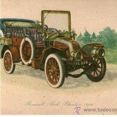 Coleccionismo: TIPO POSTAL DIBUJO DE COHE RENAULD PARK PHEATON 1904. Lote 31537112