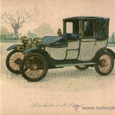 Coleccionismo - dibujo coche tipo postal lanchester 20 hp 1908 - 31537163