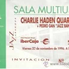 Coleccionismo: CHARLIE HADEN QUARTET WEST ENTRADA SALA MULTIUSOS VIERNES 22 DE NOVIEMBRE DE 1996. Lote 31583437