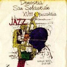 Coleccionismo: CHICK COREA TRIO, BIG BAND DEL AULA DE JAZZ DE BARCELONA. ENTRADA XVIII JAZZALDIA DONOSTIA 1983. Lote 31605040