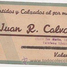 Coleccionismo: TARJETA COMERCIAL DE CALZADOS (VALENCIA). Lote 31621412