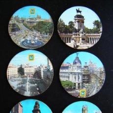 Coleccionismo: LOTE 5 POSAVASOS CIUDAD DE MADRID. ANTIGUO ESCUDO MADRID. RARO DE ENCONTRAR.. Lote 31781846