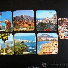 Coleccionismo: LOTE 7 POSAVASOS ANTIGUOS FOTOGRAFIAS ISLAS CANARIAS. LAS PALMAS Y TENERIFE.. Lote 31799214