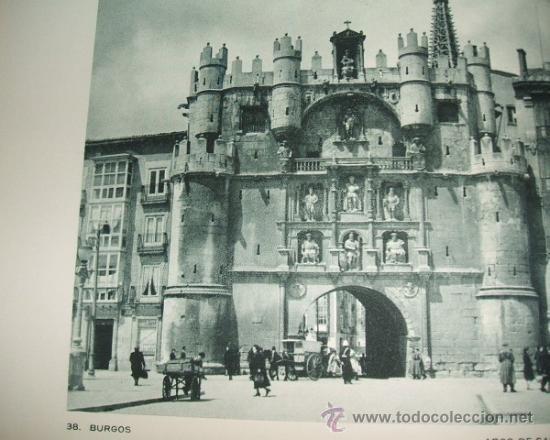 BURGOS ARCO DE SANTA MARIA ANTIGUO HUECOGRABADO AÑOS 30 (Coleccionismo - Laminas, Programas y Otros Documentos)